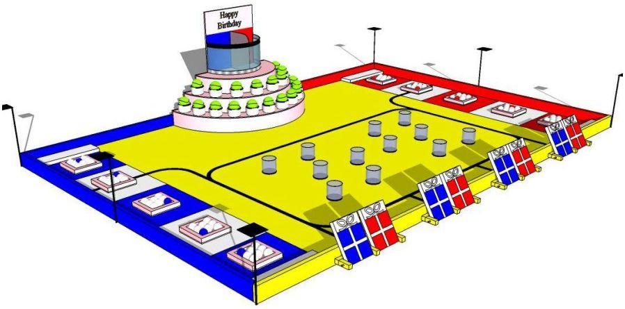 Spielfeld Eurobot 2013